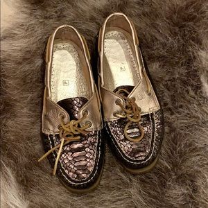 SNAKESKIN SPERRY BOAT SHOES 👞